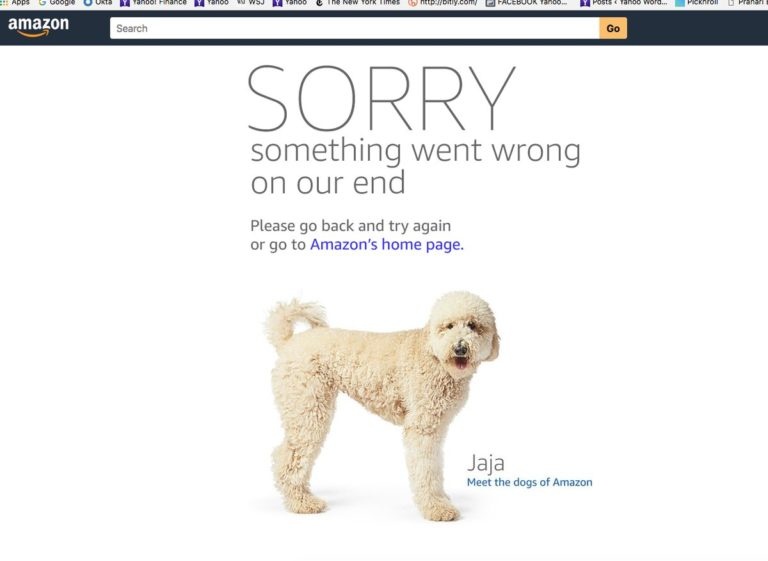 amazon is down webpage